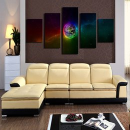 Wholesale Factory Stickers - Abstract Artistic Wall Sticker Durable Earth Pattern Decorative Picture Waterproof Frameless Mural Painting Factory Direct 172 8jm B