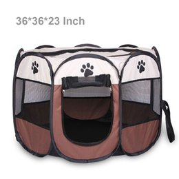 Wholesale Pet quot Playpen for Small Medium Large Dog Cats Bunny Cage Easily Sets Up and Fold Down Portable Dog Cat Puppy Playpens Furthest Save Space