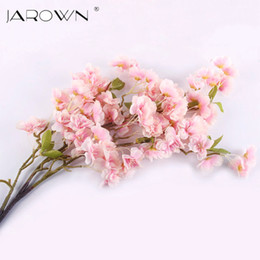 Wholesale Artificial silk sakura cherry flores blossom Oriental cherry Decoration Wedding hotel room party accessory Silk Flowers