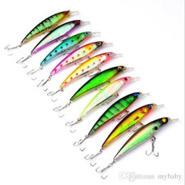 Wholesale T Bait - Hot-selling,8 colors Fishing bait 11CM 13.4G Proberos style laser Minnow fishing lures t fishing tackle free shipping