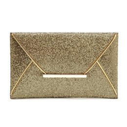 Wholesale Prom Clutch Bags - Wholesale-2016 Fashion Women's Sequins Envelope Clutch Bag Evening Party Bag Acrilico Cocktail Prom Bag Purse Messager Clutches de Luxo