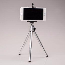 Wholesale Clip Mobile Holder - Wholesale-Mini Mobile Phone Camera Tripod selfie stick Stand Clip Bracket Holder Mount Adapter For Self-Timer Phone Holder Tripode