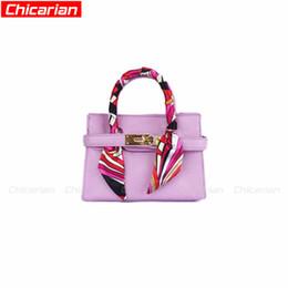 Wholesale baby girl brand purses - Chicarian Designer Kids Purses Fashion Child Girl Handbag With Scarf Girls Brands Mini Handbags Stylish Baby Tote Bag Kid Shoulder Bag CA005