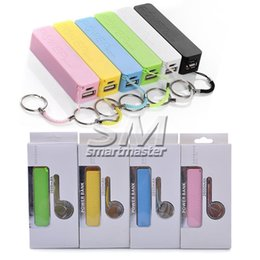 Wholesale Iphone Portable Charger Mini - portable Mobile Power bank 1200Mah Mini USB Charger backup battery charger Colorful Powe Bank For iPhone HTC samsung With Retail Pack