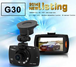 "Wholesale Highest Sensor Car - High quality G30 2.7"" Car Dvr 170 Degree Wide Angle Full HD 1080P Car Camera Recorder Motion Detection Night Vision G-Sensor"