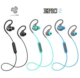 Wholesale Sport Wireless Headphones Usb - 2016 Hot JLab Audio Epic2 Wireless Sport Earbuds Bluetooth 4.0 Headphones Earphones GUARANTEED fitness waterproof IPX5 rated skip-free sound