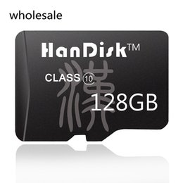 Wholesale 128g Memory Cards - HanDisk 128GB Black Micro SD Card 128G Class10 wholesale CE FCC certification TF Card 10-100pcs lot Quality Memory Card SDXC