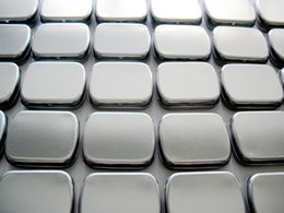 Wholesale Fold Hinges - Wholesale- Free Shipping 10 X Zakka Silver Tin Storage Box Metal Hinge Box Organizer Case Casket Novelty Households Wedding Candy Box