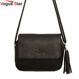 Wholesale Black Crossbody Fringe Purse - Wholesale-Vogue Star Cute Crossbody Women Fringe Bag Black Purse Small Handbags Tassel Organizer Korean Messenger Bag Designer YB40-350