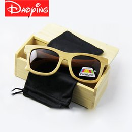 Wholesale Oem Waterproof - 10pcs High quality beach sunglasses women bamboo&wood sunglasses wholesale eyewear men OEM eyeglasses UV400 protection Free shipping