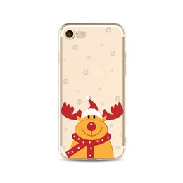 Wholesale Phone Animations - Cell Phone Accessories Cases 2017 fashion Merry Christmas Cartoon Animation Painting Case Cover Defender For iPhone 5S 6 6s 7 7 Plus #017