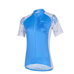 Wholesale Lady Items - new kind NEW ITEMS blue ladies Cycling jersey CHEJI Team outdoor road wear short sleeve short cycling shorts