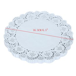 Wholesale Vintage Napkins Wholesale - Wholesale- 150pcs 16.5CM 6.5Inch Lace Paper Doilies Doyley Mat Craft DIY Scrapbooking Wedding Decoration Vintage napkin Hollowed