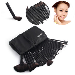 Wholesale Faces Brushes - Black Vander 32 Pcs Makeup Brushes Set Foundation Face&Eye Powder Professional Pinceaux Cosmetics Makeup Brush + Pouch Bag