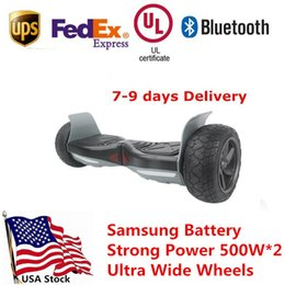 Wholesale Hummer Speakers - Strong Power Hummer Ultra Wide Wheels Smart Electric Hoverboard with Bluetooth Speaker Self Balancing Scooters Skateboard 500W*2 USA Stock