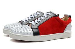 Canada Nouveaux hommes et femmes chaussures décontractées noir et chaussures de fond rouge cheval cheveux Avec Spikes Toe bas haut chaussures décontractées unisexe femmes de mode baskets cheap spiking hair Offre