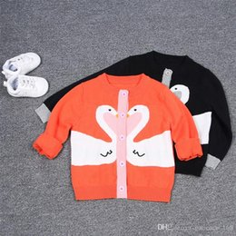 Wholesale Matching Sweats - In stock 2 color INS styles new arrival Girl cotton knitted sling sweat kids spring autumn girl casual cute all-match cardigan sweater