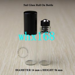 Wholesale Small Perfume Roller Bottles - 24pcs 5ml Roll On Roller Bottles For Essential Oils Small Roll-on Refillable Perfume Bottle Deodorant Containers Free Shipping