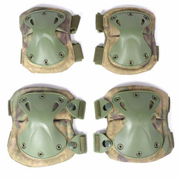 Wholesale Skate Knee - Tactical Protective Knee Pad Elbow Support Airsoft Paintball Combat Knee Protector Hunting Skate Scooter Kneepads