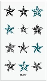 Wholesale Eye Makeup For Men - Wholesale-(Min order $0.5) Temporary Tattoo For Man And Woman Waterproof Stickers makeup maquiagem make up Various star Tattoo WM003