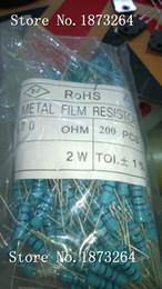 Wholesale 2w Resistor Kit - Free shipping 470 OHM 2W 1% 2W 470R 470ohm Resistor Kit Metal Film Resistor 200pcs lot + - 1% sold by bag