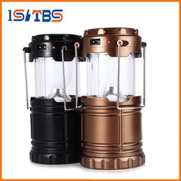 Wholesale Ip65 Led Solar Light - 2017 New Portable Outdoor LED Camping Lantern Solar Collapsible Light Outdoor Camping Hiking Super Bright Light