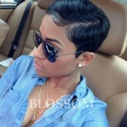 Wholesale Front Bangs - Peruvian Glueless Human Full Lace Human Cut Hair Wigs With Bangs Virgin Short Hair Lace Front Wig For Black Women