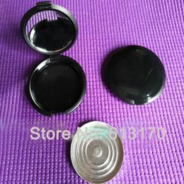 Canada 5g Vide Losse Poudre pots avec Miroir En Aluminium Pan Noir DIY Make Up Poudre Compact Cosmétique Emballage Cas Livraison gratuite cheap compact pack Offre