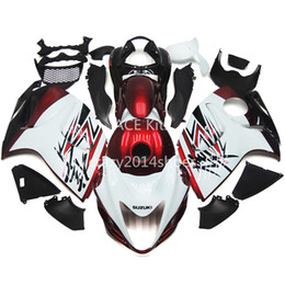 Wholesale Good Nice New - 5 free gifts New ABS motorcycle Fairing Kits 100% Fit For SUZUKI GSXR1300 Hayabusa 2008-2014 good nice white red and black Article no.329