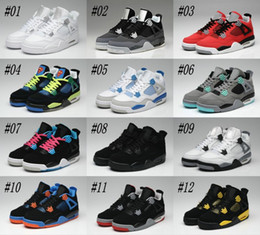 Wholesale Cheap Plaid Tops - Free Shipping Basketball Shoes Cheap Top Quality Retro 4 Oreo fear Cement Sneaker Sport Shoe,For Online Hot Sale Size 8 - 13