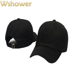 Wholesale Wholesale Shower Caps - Wholesale- Which in shower Cheap Casual Snapback Plain Cap Women Men Hip Hop Blank Baseball Hat Solid Color Trucker Dad Hat Bone Gorras