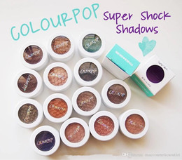 Wholesale Shock Luminous - Colourpop Super Shock Shadow Eyes Lasting Makeup Eye Shadow Pigment Single Eyeshadow Matte Metallic Glitter Color 20 Colors