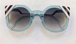 Wholesale Waving Cats - 2017 DESIGNER WOMEN WAVES 0240 S transparent light blue white purple Sunglasses Cat Eye BRAND NEW WITH CASE