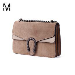 Wholesale-2016 autumn winter women s vintage handbags satchel nubuck  patchwork napa leather steller s buckle chain shoulder bag tote bags f2423910af99c
