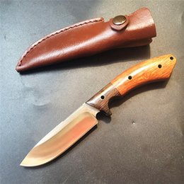 Oem faca fixa on-line-Promoção!! Faca de sobrevivência OEM lâmina fixa alta dureza ferramenta 9cr18mov lâmina faca de acampamento tático facas de madeira alça