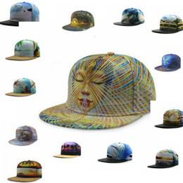 Wholesale Women Hawaii - women men Snapback Cap Casual Hawaii Style Baseball Cap Hip Hop Hats Flat 3D sports hats baseball Snapback Sun Hat 31 design KKA2764