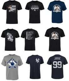 Wholesale T Shirts Number - 2017 Derek Jeter New York Yankees T-Shirt Aaron Judge Judgement Day T-Shirt tri-Blend Name & Number Tee