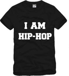 Wholesale Free Graffiti Letters - Free shipping 2017 I AM HIP-HOP t-shirt tee shirt I am hiphop hip hop bboy rock rap graffiti street tide