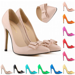 Wholesale Eur 42 - Sapatos Femininos Fashion Women Bow Shoes High Heels Corset Pumps Party Court Dress Shoes Size US 4-11 EUR Size 35- 42 D0016