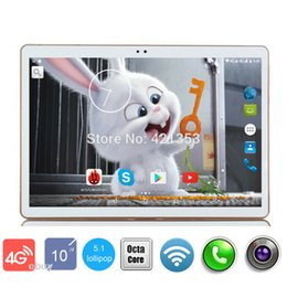 Wholesale Android Tablet Google Play Store - Wholesale- 2017 Newest Google Play Store Android 5.1 OS 10 inch 4G LTE Tablet Octa Core Tablet 10.1 4GB RAM 32GB ROM Dual Cameras tablet 10