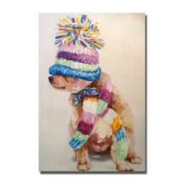 2019 billige kunstfarbe 2016 Werbeartikel günstigen Preis Pop-Art animierte Hund Ölgemälde ohne Rahmen Leinwand Bilder billige moderne Leinwand Kunst günstig billige kunstfarbe