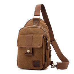 Wholesale Korean Cross Body Bags - Wholesale- 2016 Fashion Men Shoulder chest pack Korean wave packet Messenger bag casual canvas pockets Moore Carden