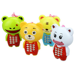 Wholesale Music Baby Phone - Baby Music Cartoon Animal Buttons Phone Educational Intelligence Toy 3-6 Baby children call Cell phone toy Animal toy phone Music button