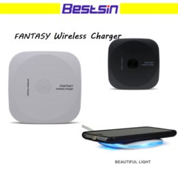 Wholesale Wholesale Square Chargers - Bestsin Qi Wireless Charger for Square and slim Charging Pad for Samsung S7 Edge S8 Plus Iphone 8 Note 8 with retail package
