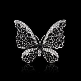 Wholesale Vintage Butterfly Pins Brooches - Wholesale- 2015 new arrive Women Jewelry Accessories Brooch Vintage gun black Butterfly Dragonfly Animal Flower Jewelry brooch pins wedding