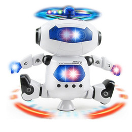 Wholesale Electronic Robot Toys For Wholesale - DHL Free Delivery 10 Pcs Smart Space Dance Robot Electronic Walking Toys With Music Light Gift For Kids Astronaut Toy to Child Baby gift