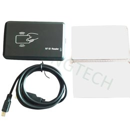 Wholesale Contactless Smart Cards - RFID Reader USB 125khz EM4100 black Contactless Proximity Smart Card Reader