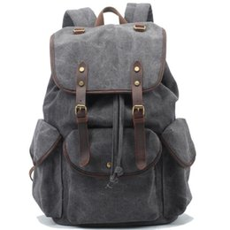 backpacks for men free shipping Promo Codes - Vintage designer backpacks men casual traveling canvas mens backpack fashion 2017 new style brief school backpacks for men free shipping