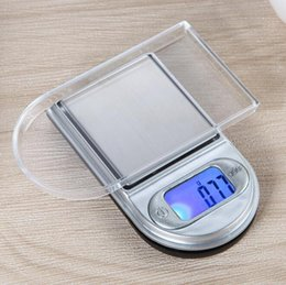 Wholesale Digital Lcd Scale - electronic Mini LCD Digital Pocket lighter type scales Jewelry Gold Diamond Gram Scale with backlight 100g 0.01 200g 0.01 in stock fast