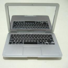 ordinateur portable argent Promotion Blanc et argent Mini ordinateurs portables miroir portable mini miroir personnalité pour macbook air 100 pcs / lot DHL